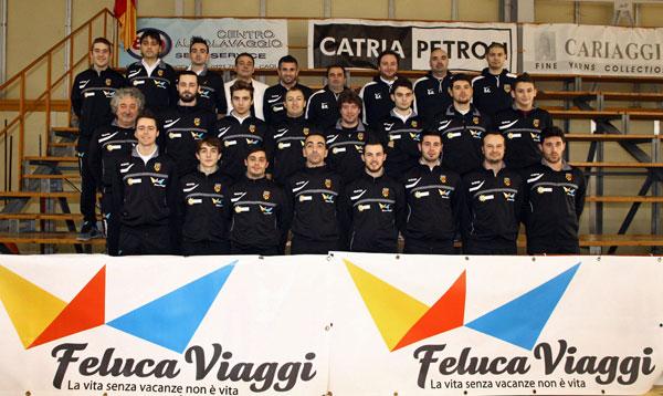 l'Atletic Cagli 2012-2013 con il main sponsor