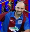 Mister Lorenzo Sedani e la gioia per il primo trofeo dell'Acqualagna: